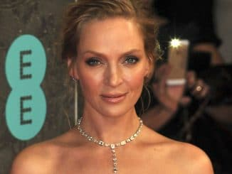 Uma Thurman - EE British Academy Film Awards 2014 - Arrivals - Royal